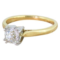 Art Deco 1.00 Carat Old Cut Diamond Engagement Ring