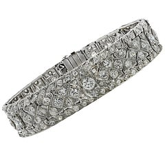 Art Deco 10.25 Carat Diamond Bracelet