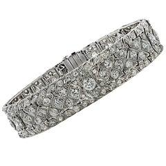 Art Deco 10.25 Carat Diamond Bracelet