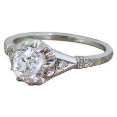 Art Deco 1.03 Carat Old Cut Diamond Engagement Ring, circa 1920