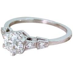 Art Deco 1.07 Carat Old Cut Diamond Engagement Ring, circa 1920