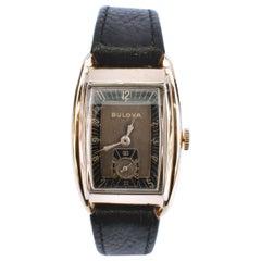 Art Deco 10k GF BULOVA AMBASSADOR Gents Watch, c1940, 81 Years Old, Serviced