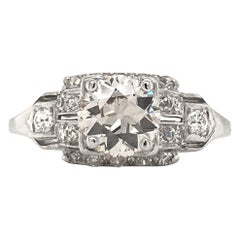 Art Deco 1.10 Carat Diamond Platinum Engagement Ring