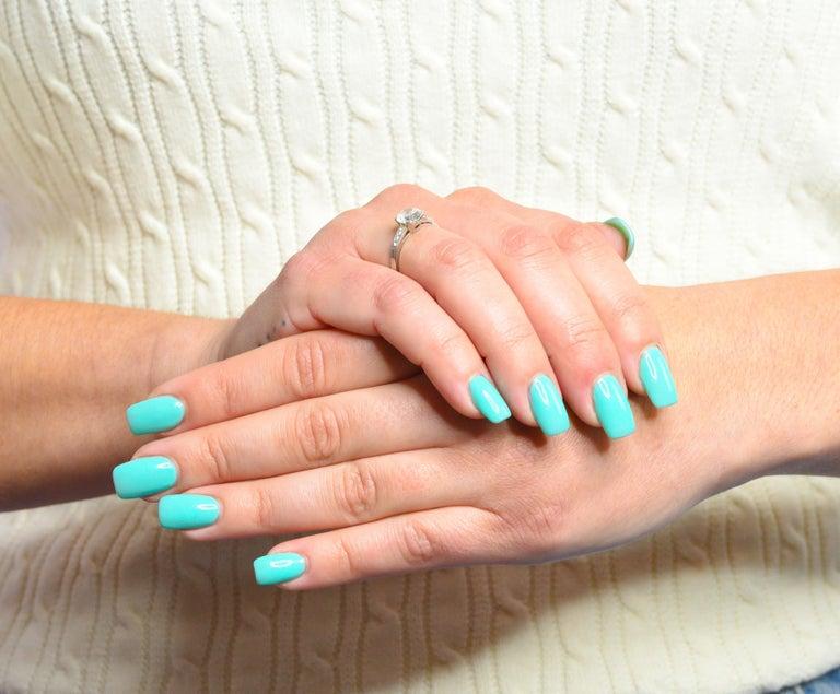 Art Deco 1.20 Carats Diamond Platinum Wide Prong Engagement Ring For Sale 7