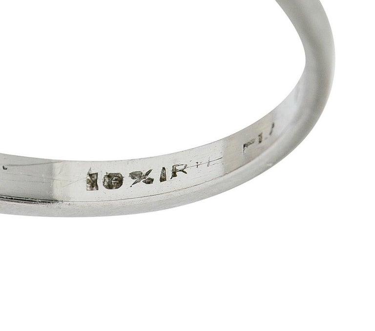 Art Deco 1.20 Carats Diamond Platinum Wide Prong Engagement Ring For Sale 2
