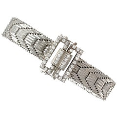 1940s Art Deco 1.20 Carat Diamonds Gold Bracelet