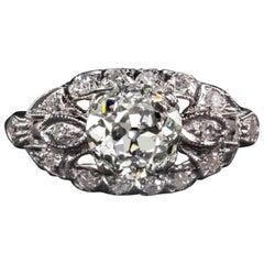 Art Deco 1.21 Old Cut Diamond Ring