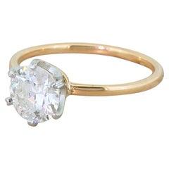 Art Deco 1.22 Carat Old Cut Diamond Engagement Ring