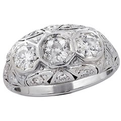 Art Deco 1.25 Carat Diamond Ring