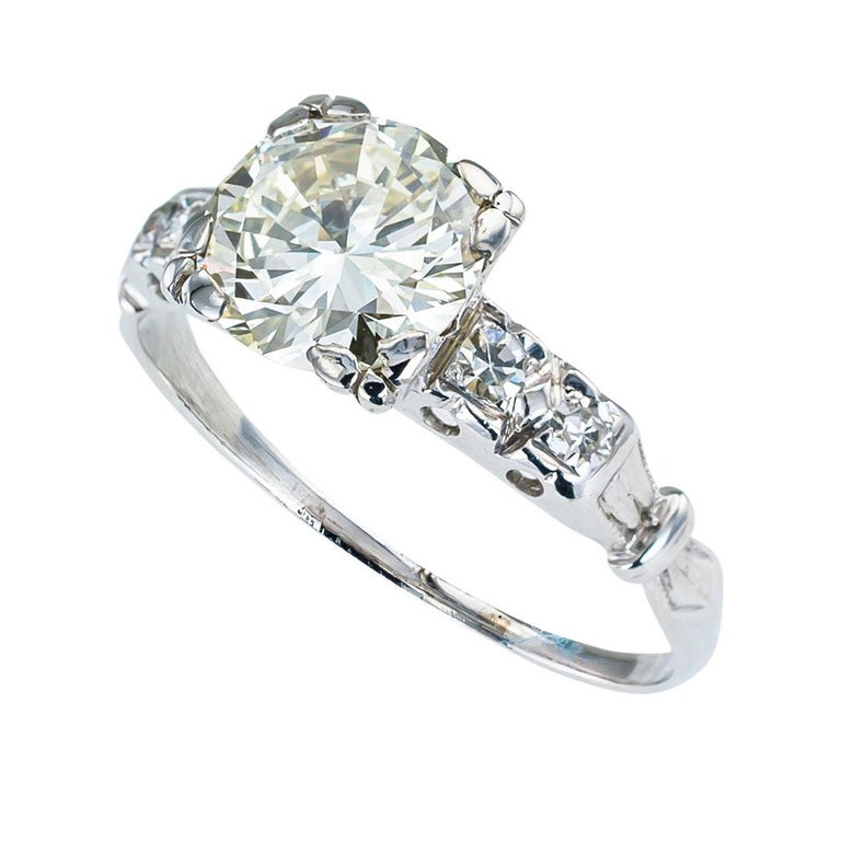 Art Deco 1.34 carat diamond and white gold solitaire engagement ring circa 1930. Love it because it caught your eye, and we are here to connect you with beautiful and affordable jewelry.  Simple and concise information you want to know is listed
