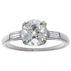 Art Deco 1.35 Carat Diamond Platinum Ring