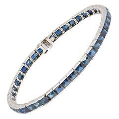 Art Deco 14.50 Carat Sapphire Line Bracelet