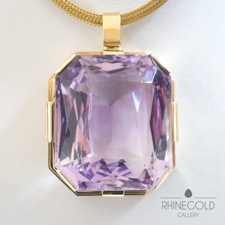 Art deco 1453 carat gem quality amethyst gold pendant for sale at womens art deco 1453 carat gem quality amethyst gold pendant for sale mozeypictures Gallery