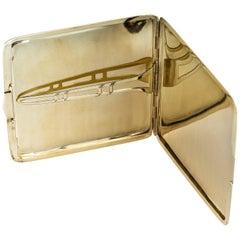 Art Deco 14 Karat Yellow Gold Cigarette Case
