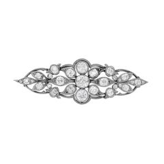 Art Deco 1.50 Carat Diamond Brooch, circa 1920s