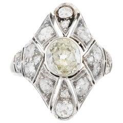 Art Deco 1.50 Center Diamond and 1.00 Carat Around Ring