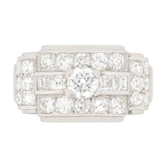 Art Deco 1.60ct Diamond Cluster ring, c.1930s