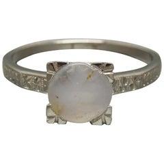 Art Deco 1.71 Carat Lavender Sapphire Platinum Ring