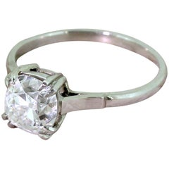 Art Deco 1.72 Carat Old Mine Cut Diamond Engagement Ring