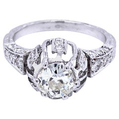 Art Deco 1.75 Diamond Engagement Ring