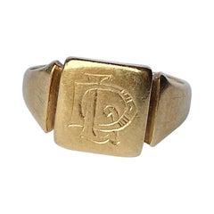 Art Deco 18 Carat Gold Signet Ring