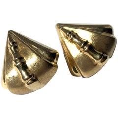 Art Deco 18 Carat Gold Stud Earrings