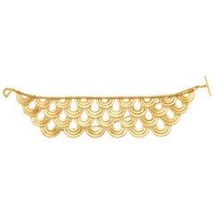 Art Deco Style 18 Karat Yellow Gold Bracelet