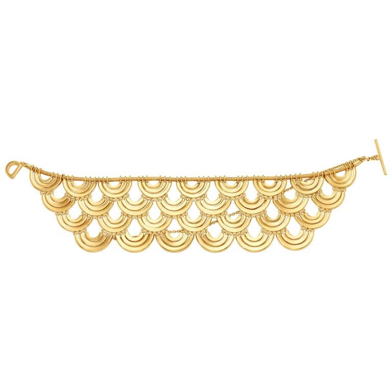 Art Deco Style 18 Karat Yellow Gold Bracelet For Sale
