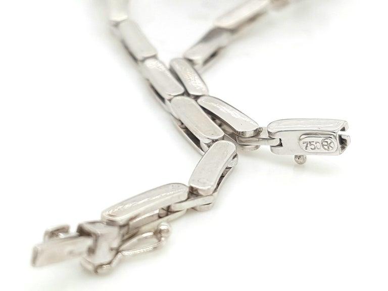 Women's Art Deco Style 18 Karat White Gold Omega Diamond Ladies Swiss Wristwatch For Sale