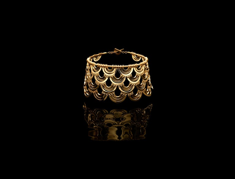 18K Yellow Gold Wide Bracelet, Exclusive  From the CADAR Water Collection.