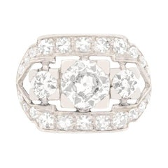 Art Deco 1.90ct Diamond Cluster Ring, c.1920s
