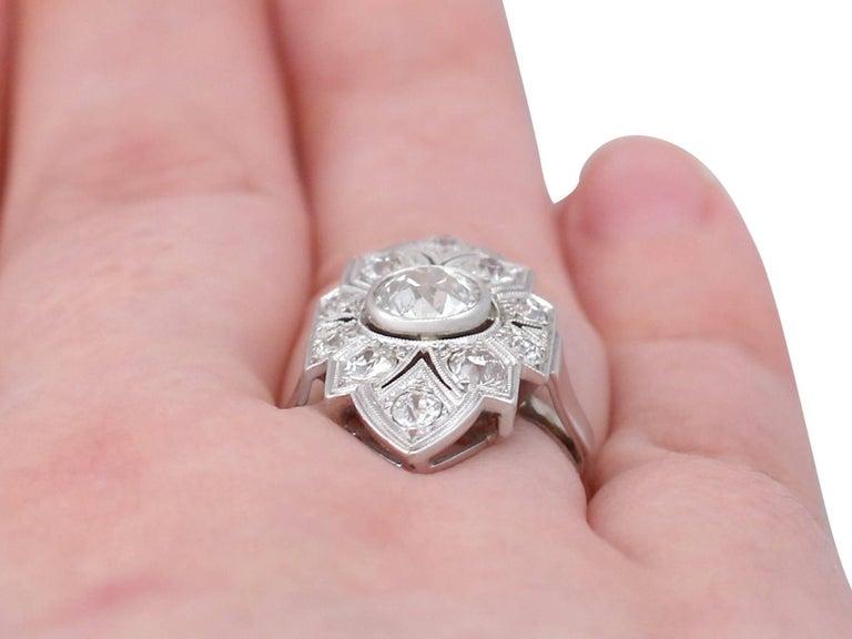 Art Deco 1.91 Carat Diamond and White Gold, Platinum Set Marquise Ring 4