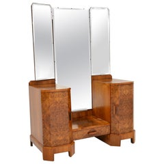 Art Deco 1920s Burr Walnut Dressing Table