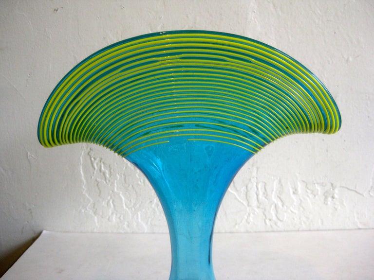 Beautiful Art Deco Kralik Czech Bohemian Art Glass threaded