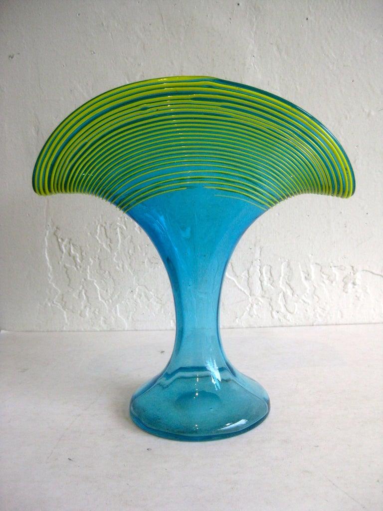 Art Deco 1920s Kralik Bohemian Czech Art Glass Threaded