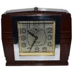 Art Deco 1930s Bakelite Clock by Blangy