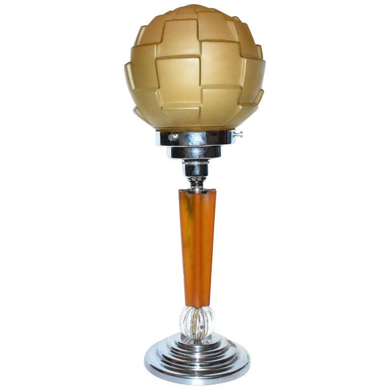 Art Deco 1930s Catalin Bakelite Lamp For Sale