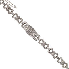Art Deco 1930s Diamond Platinum Bracelet