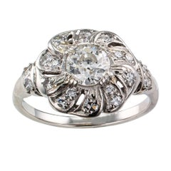 Art Deco 1930s Diamond Platinum Engagement Ring