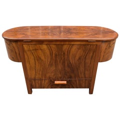 Art Deco 1930s English Metamorphic Cocktail Drinks Bar