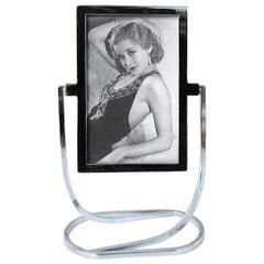 Art Deco 1930s Free Standing Chrome Picture Frame
