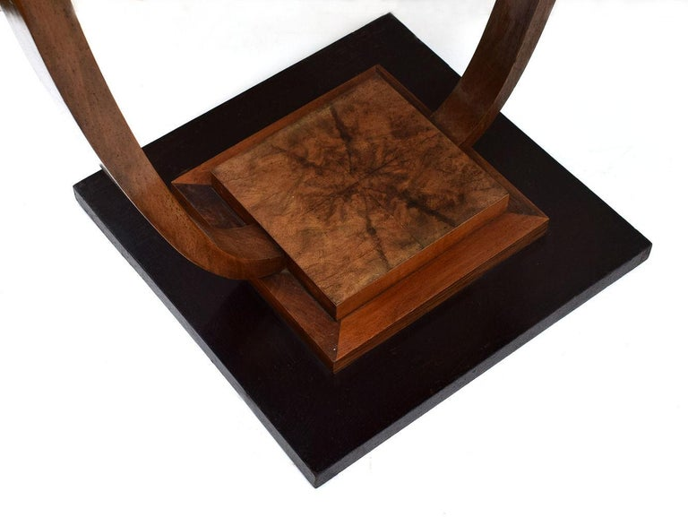 Walnut Art Deco 1930s French Occasional Table For Sale