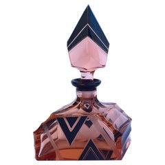 Art Deco 1930s Glass Perfume Scent Bottle
