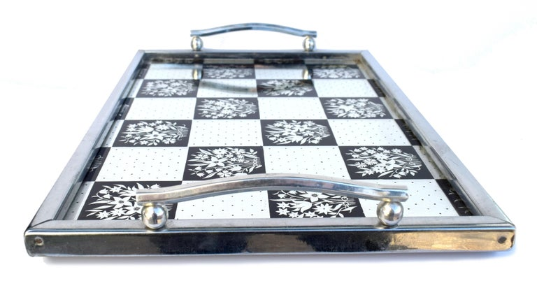 Art Deco 1930s Mirrored Barware Drinks Tray In Good Condition For Sale In Devon, England