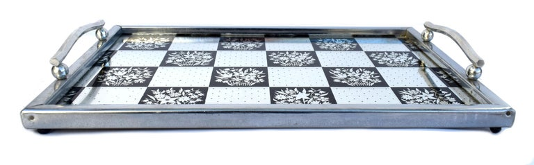 20th Century Art Deco 1930s Mirrored Barware Drinks Tray For Sale