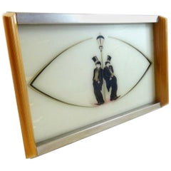 Art Deco 1930s Novelty Bar ware Tray Depicting Charlie Chaplin