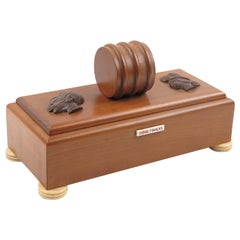 Art Deco 1930s Orientalist Carved Wood Box