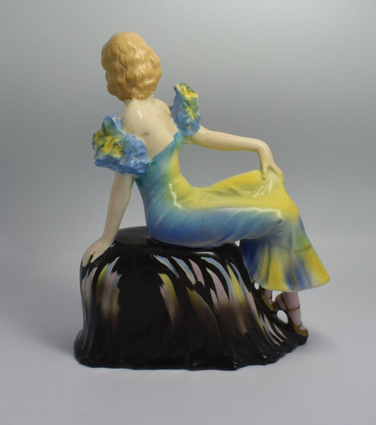 20th Century Art Deco 1930s Original Ceramic Figurine For Sale