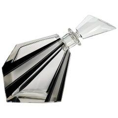 Art Deco 1930s Original Wacky Shaped Glass Decanter