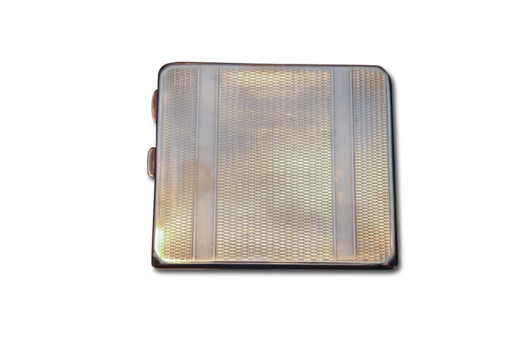 Art Deco 1931 Sterling Silver Cigarette Case with Monogram by Adie Brothers In Good Condition For Sale In High Wycombe, Buckinghamshire